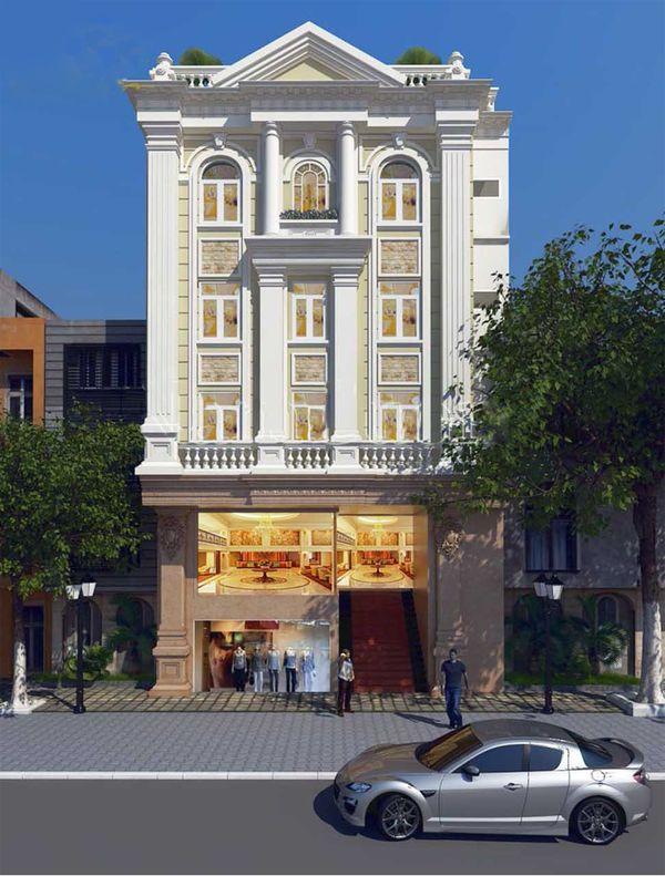 Mẫu thiết kế khách sạn mini 6x20 phong cách tân cổ điển
