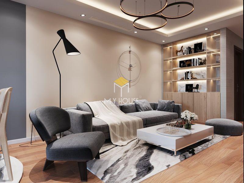 Nội thất phòng khách đơn giản, tinh tế và đáp ứng nhu cầu sử dụng của gia đình