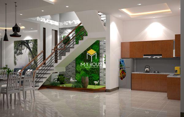Mẫu thiết kế nội thất nhà ống 2 tầng 04