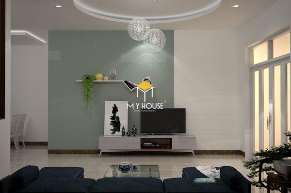 Mẫu thiết kế nội thất nhà ống 2 tầng 05