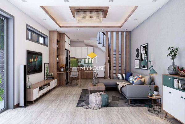 Mẫu thiết kế nội thất nhà ống 2 tầng 06