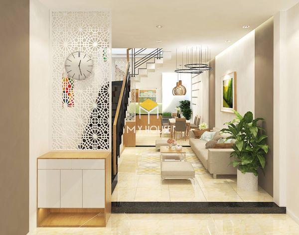 Mẫu thiết kế nội thất nhà ống 2 tầng 08