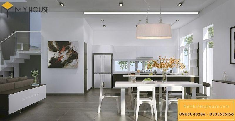 Thiết kế nội thất nhà ống 5m - Phòng ăn đơn giản, tinh tế