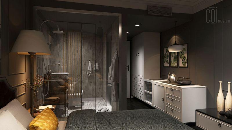 Có nên thiết kế phòng ngủ có nhà vệ sinh không? - điểm hạn chế