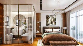 Thiết kế phòng ngủ có nhà vệ sinh 9