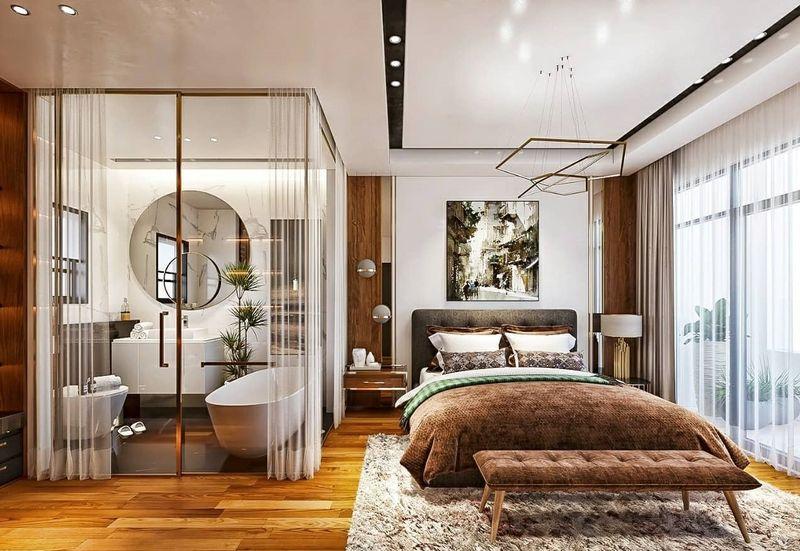 Thiết kế phòng ngủ có nhà vệ sinh 3