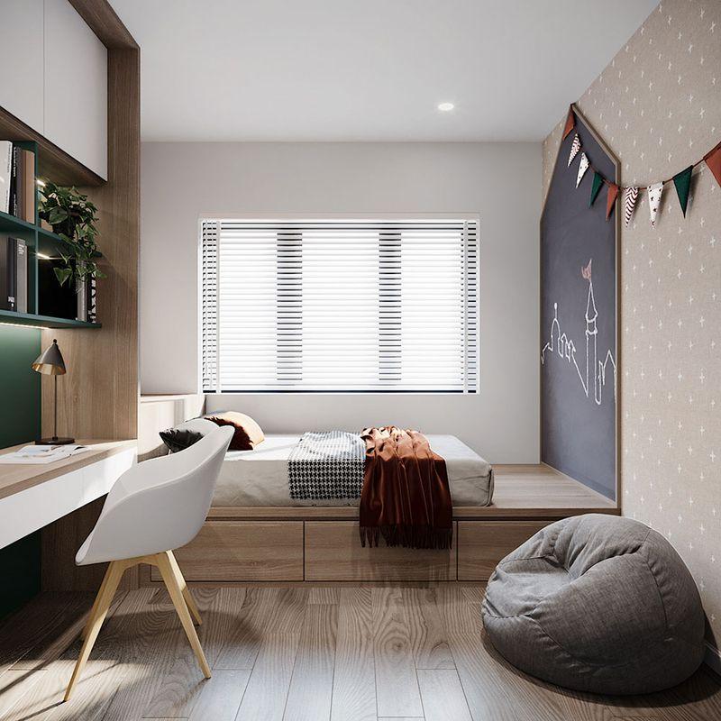 Thiết kế phòng ngủ nhỏ 6m2 - Lựa chọn giường ngủ kích thước phù hợp