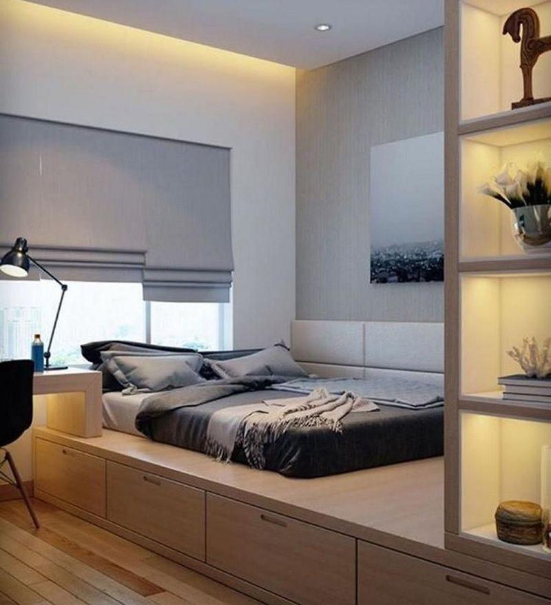 Thiết kế giường hộp được ưu tiên sử dụng trong phòng ngủ nhỏ