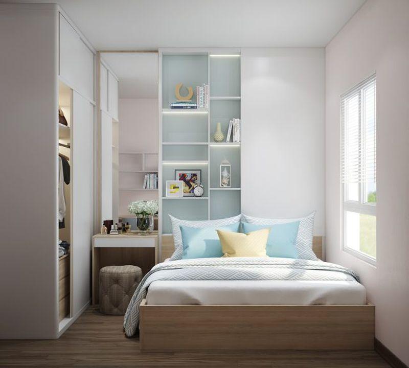 Mẫu thiết kế phòng ngủ nhỏ 6m2 tận dụng chiều cao