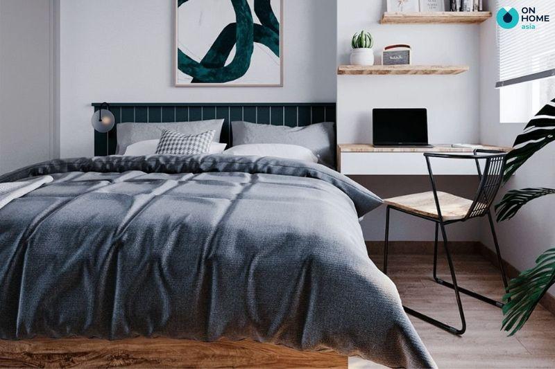Thiết kế phòng ngủ nhỏ 6m2 với tone màu sáng