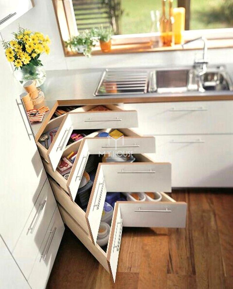 Thiết kế tủ bếp thông minh, đa năng để tiết kiệm diện tích và tối đa hóa công năng sử dụng
