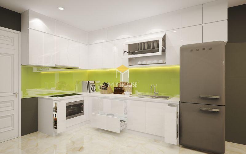 Thiết kế tủ bếp thông minh với các thiết bị phụ kiện hiện đại