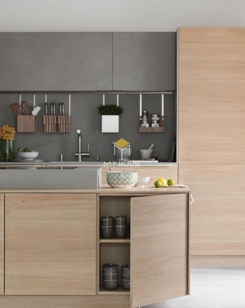 Thiết kế tủ bếp thông minh giúp tiết kiệm diện tích tối đa