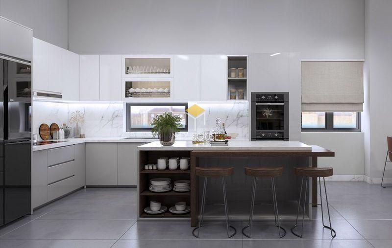 Các thiết kế âm tường đa năng trong phòng bếp giúp tiết kiệm diện tích