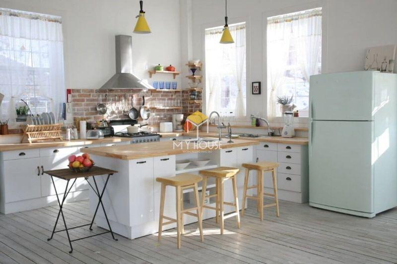 Mẫu tủ bếp đơn giản, thông minh