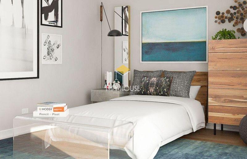 Trang trí phòng ngủ bình dân với màu sắc tươi sáng