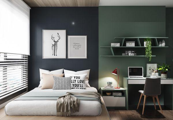 Trang trí phòng ngủ nhỏ không giường 3