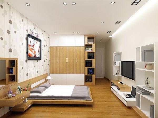 Trang trí phòng ngủ nhỏ không giường 11