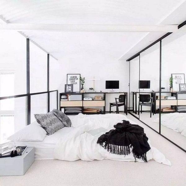 Trang trí phòng ngủ nhỏ không giường 16