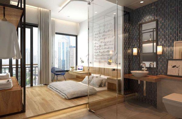 Trang trí phòng ngủ nhỏ không giường 05