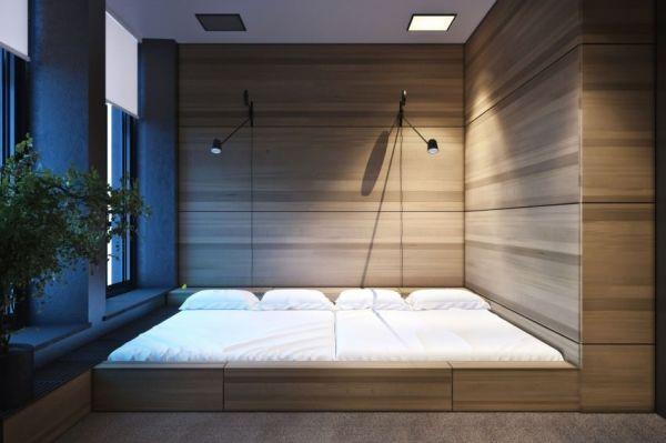 Trang trí phòng ngủ nhỏ không giường 06