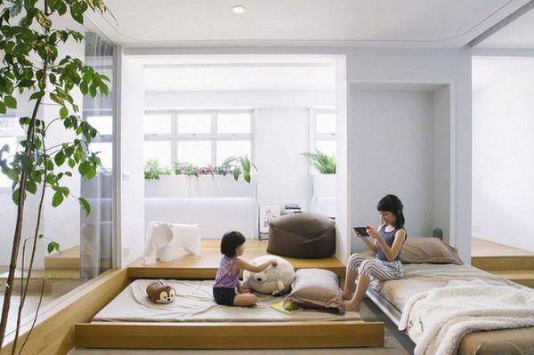 Trang trí phòng ngủ nhỏ không giường 07