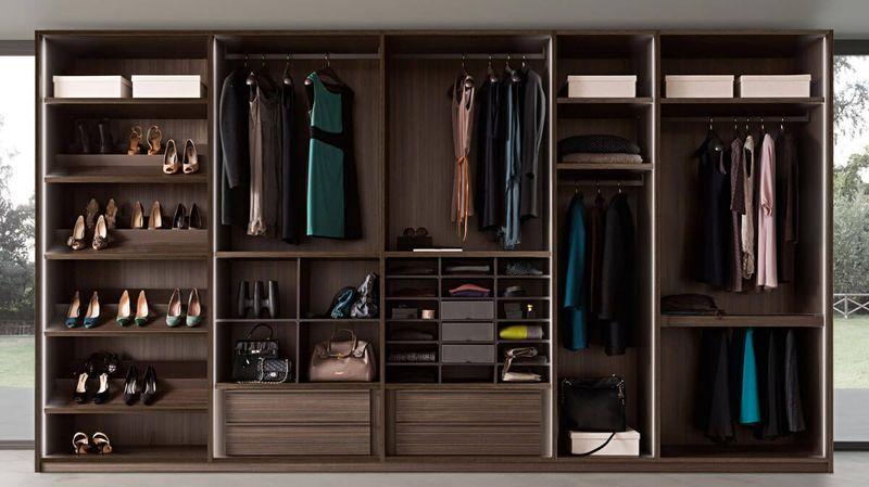 Tủ quần áo không cánh gỗ tự nhiên sang trọng, cao cấp