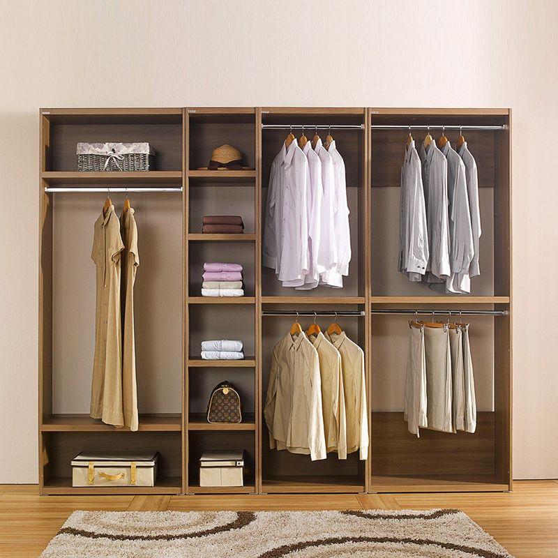 Mẫu tủ quần áo gỗ tự nhiên cho phòng ngủ vợ chống