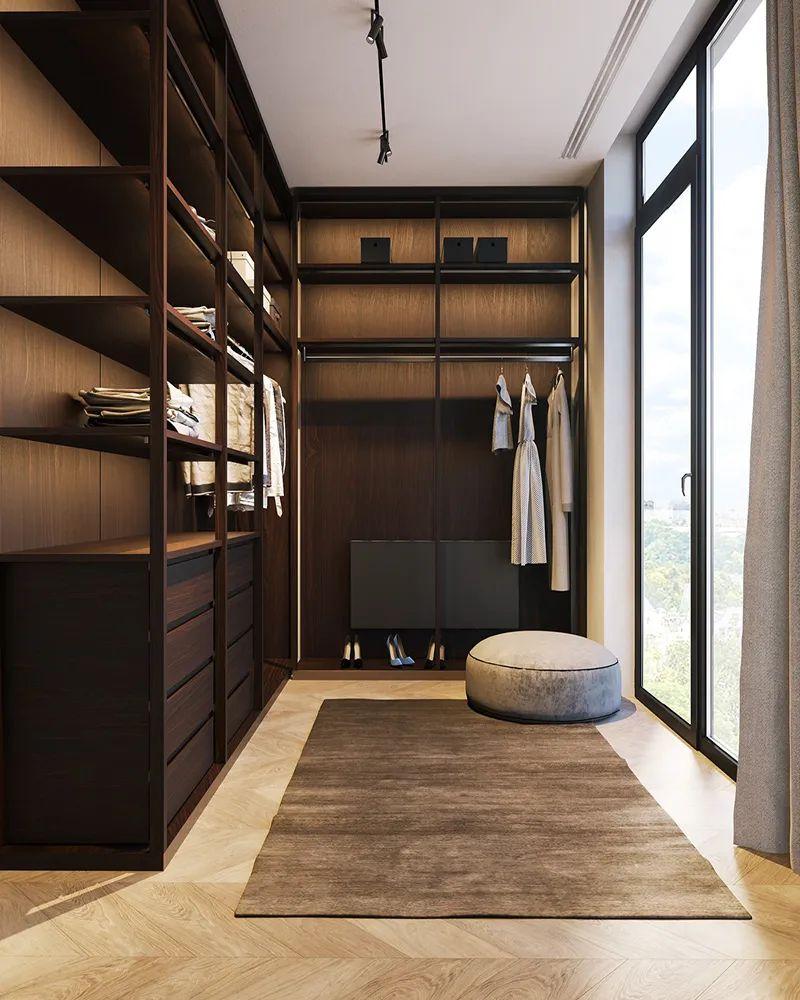 Xu hướng sử dụng tủ quần áo không cánh trong phòng ngủ hiện đại