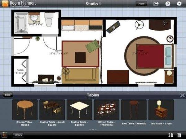 App thiết kế phòng ngủ Room Planner