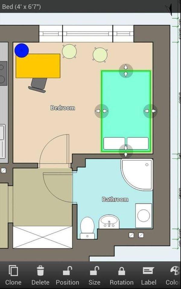 App thiết kế phòng ngủ