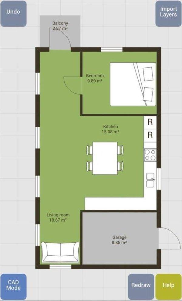 App thiết kế phòng ngủ Floor Plan Creator