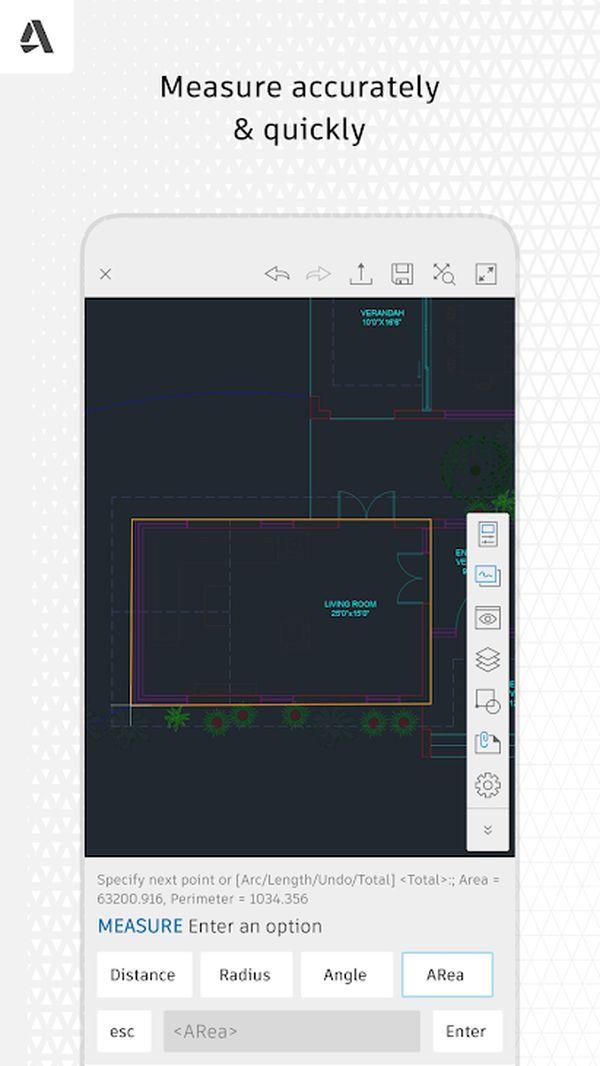 App thiết kế phòng ngủ Autocad trên di động