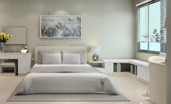 Mẫu nội thất phòng ngủ 12m2 đơn giản, phong cách hiện đại