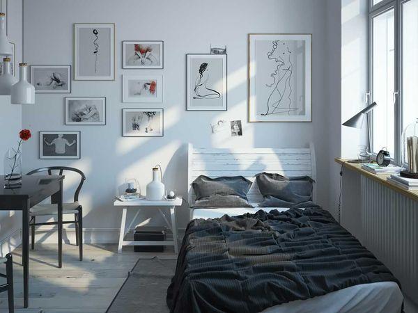 Cách bố trí phòng ngủ 12m2 đơn giản cho bạn trẻ