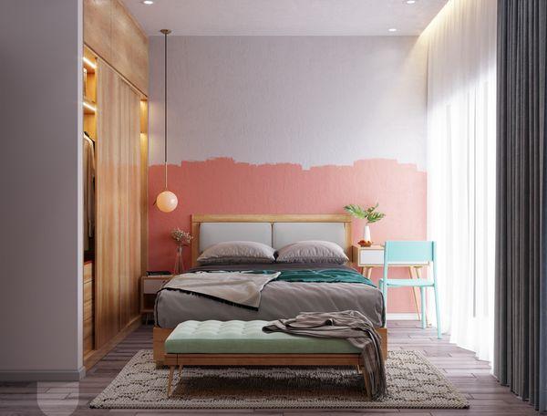 Lựa chọn màu sắc đơn giản, sử dụng tối đa 3 màu để mang tới một không gian phòng ngủ đẹp và sang trọng
