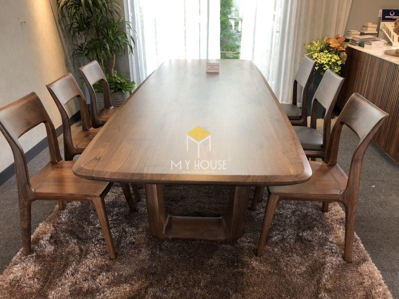Công ty sản xuất nội thất - bộ bàn ăn 8 ghế óc chó