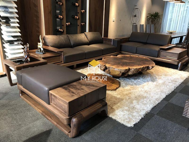 Công ty sản xuất nội thất - Bộ sofa gỗ óc chó
