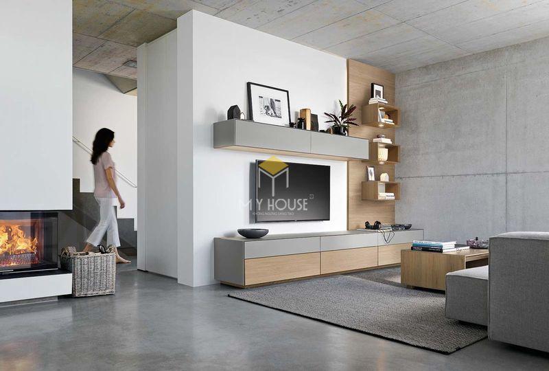 mẫu nội thất phòng khách nhà chữ L - 04