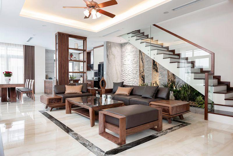 Thiết kế phòng khách sang trọng nhưng vẫn đảm bảo tối ưu công năng sử dụng