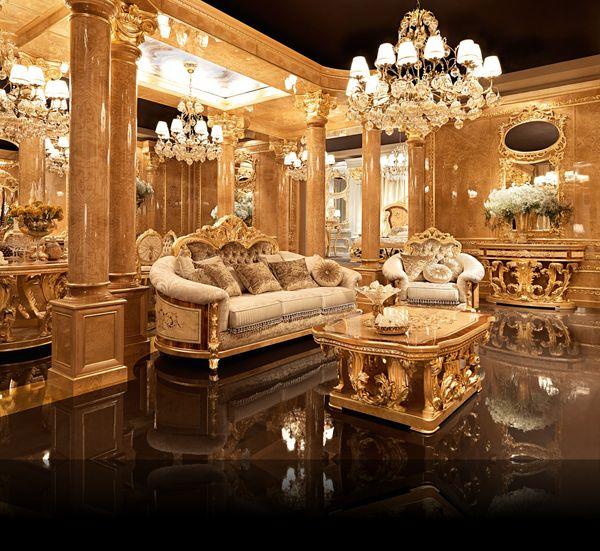 Đặc điểm của phòng khách cổ điển - Hoa văn họa tiết cao cấp, tinh tế với tần suất dày