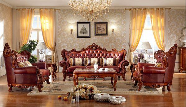 Đặc điểm của phòng khách cổ điển - Màu sắc mang tính đối lập, cổ điển