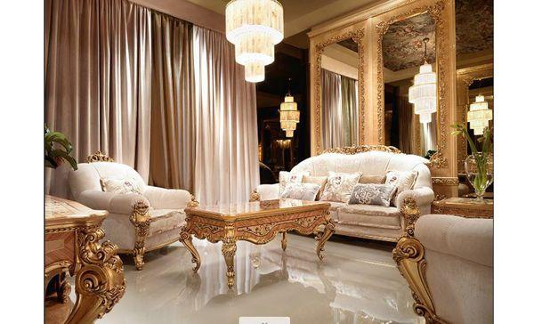 Đặc điểm của phòng khách cổ điển - Vật liệu cao cấp, tự nhiên