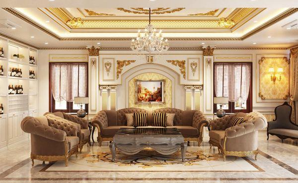 Phòng khách cổ điển 3