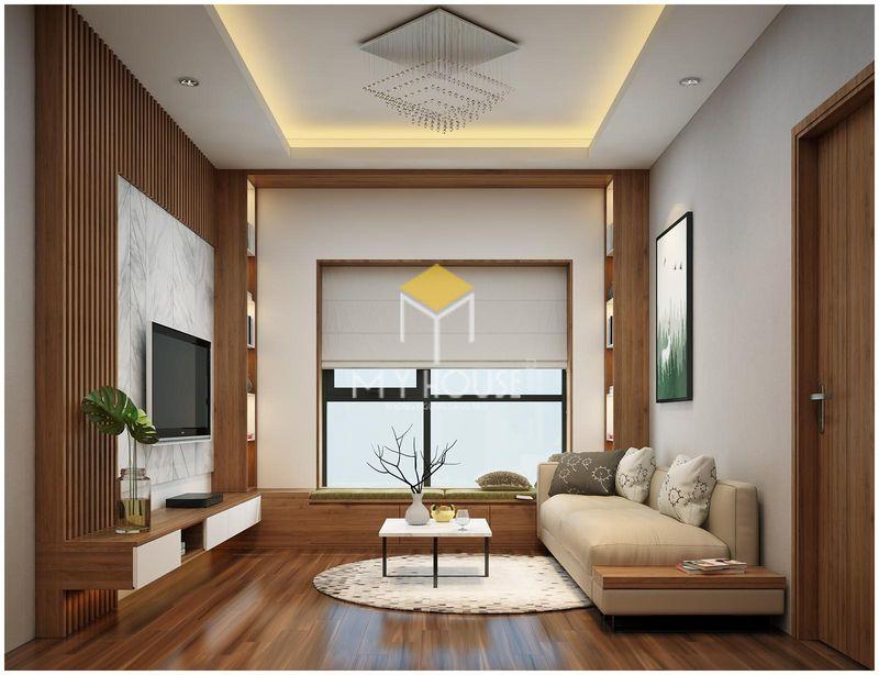 ý tưởng trang trí phòng khách gần cửa sổ