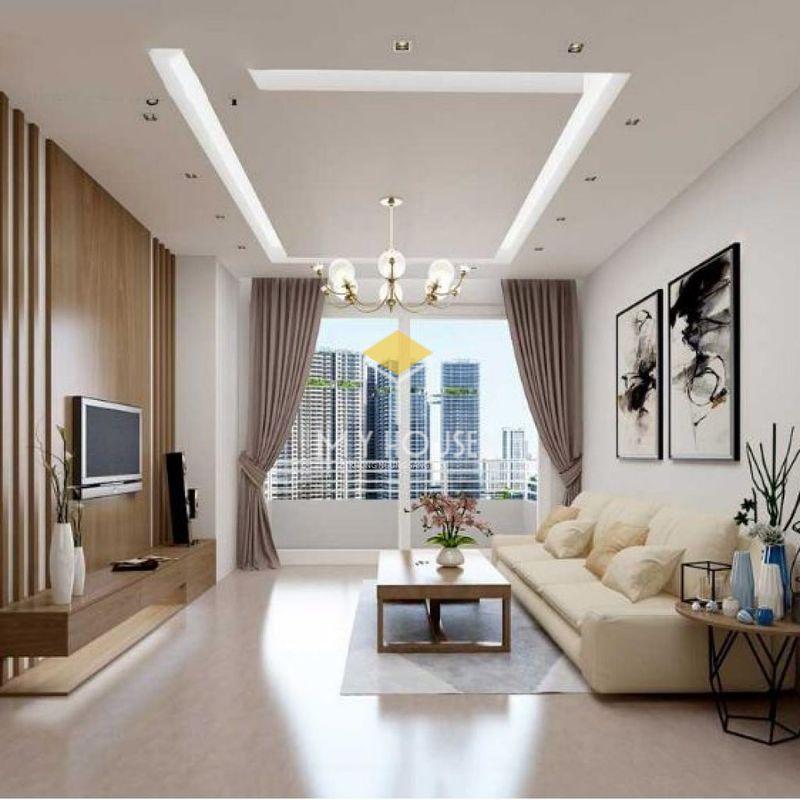 Trang trí phòng khách không gian mở với cửa sổ lớn hoặc cửa kính