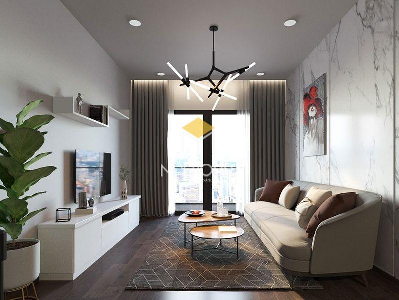 ý tưởng trang trí phòng khách chung cư không gian mở