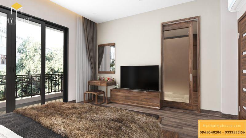 Bố trí nội thất phòng ngủ master biệt thự - bố trí nội thất thông thoáng, tiện nghi sử dụng