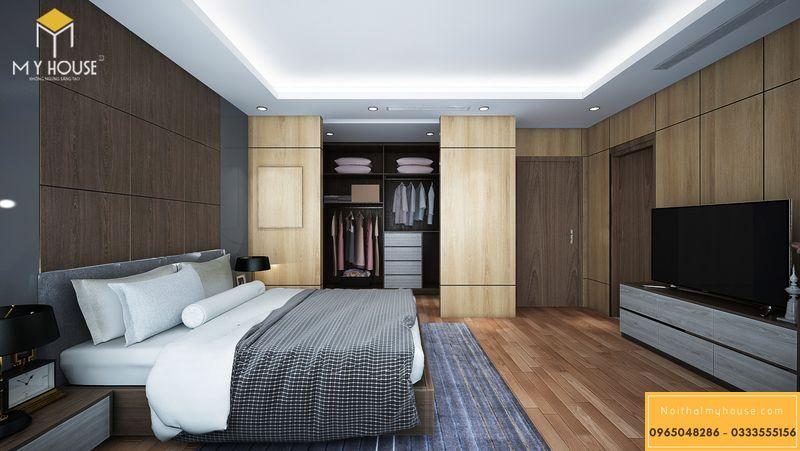 Bố trí nội thất phòng ngủ master phong cách hiện đại sang trọng