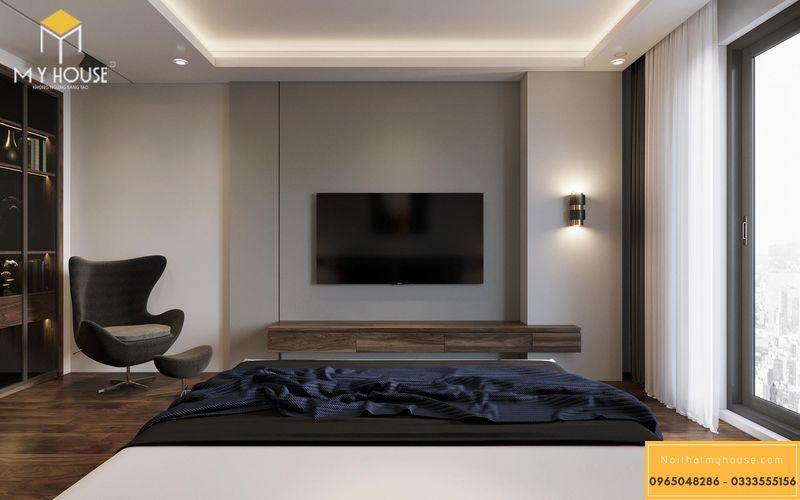 Phòng ngủ master biệt thự đơn giản, tinh tế cho biệt thự đơn lập